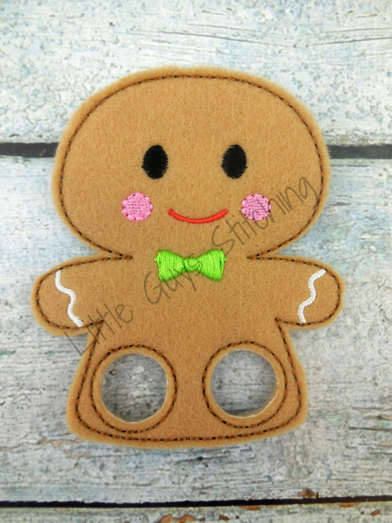 Imaginative play Preschool holiday gifts, Gingerbread man Holiday Finger Puppet Gingerbread Boy Finger Puppet Stocking Stuffers