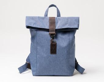 5d48595879ff8 Canvas Leder Rucksack wasserabweisend Tasche für Damen und