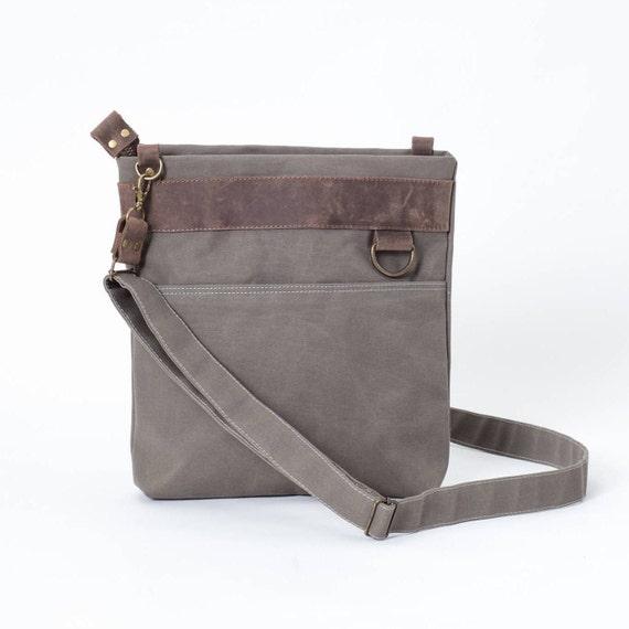 Khaki Small Canvas Messenger Shoulder iPad Bags For Men Women  fbeab0391d8fa