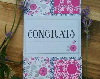 Congrats/ Hello Trifold Cards