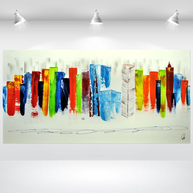 acrylic painting abstract art original painting large canvas image 1