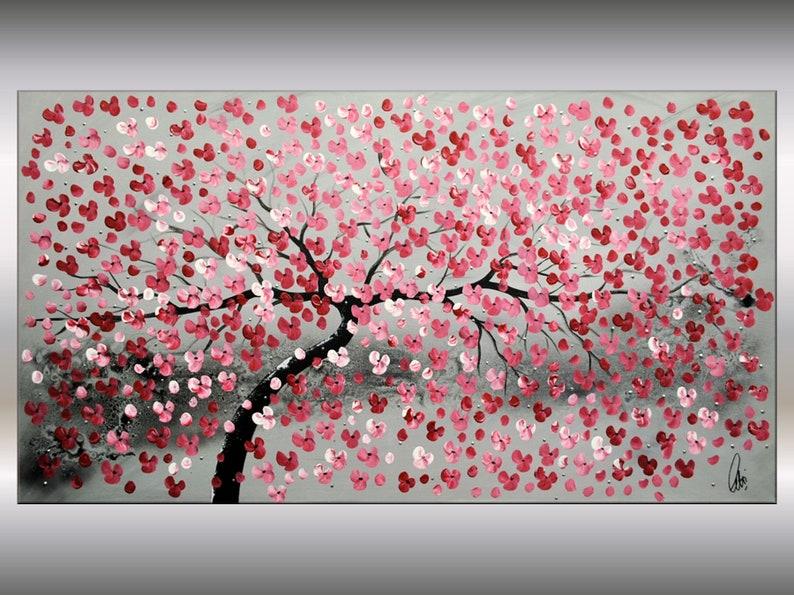 1c4bea444ae Pintura Original pintura pared arte Arte árbol Original