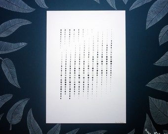 Moon Calendar Custom Made - choose year, hemisphere, paper, and ink