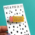 MOVING SALE - Glittery Memory Eraser - Shrink Plastic Brooch