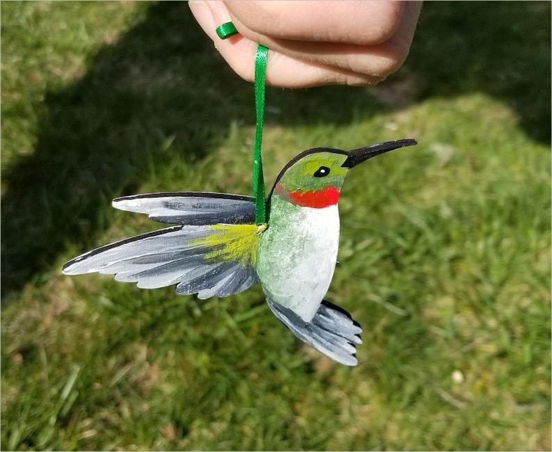 HUMMINGBIRD Ornament Hand-painted Original Artwork by image 0