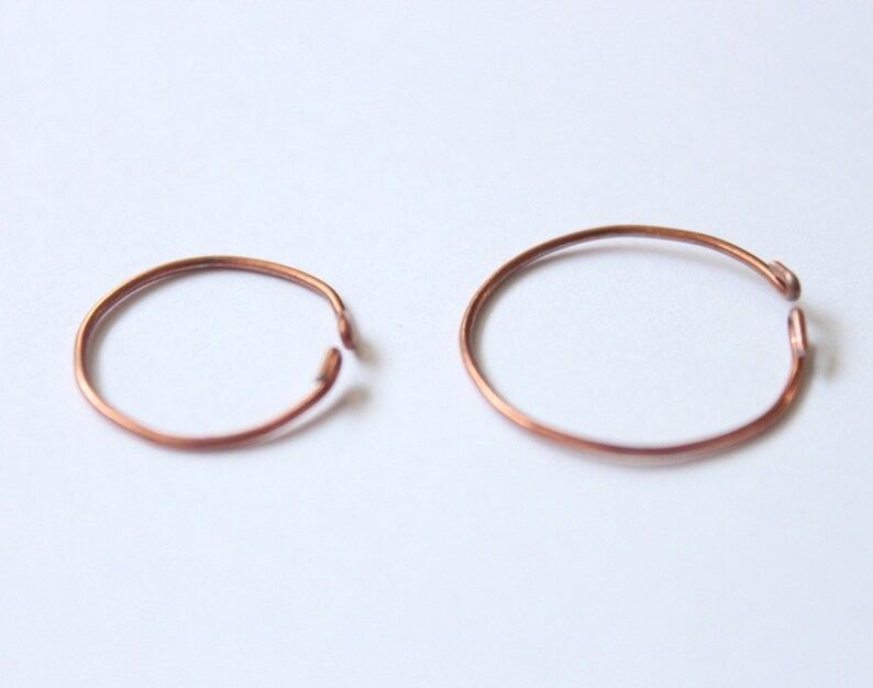 Set of 10 or individual Copper Rings