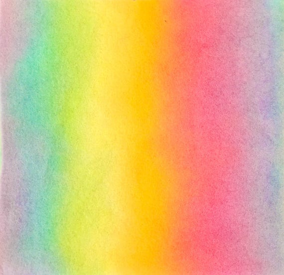 Regenbogenwolle Filz von Hand bemalt 100 % reiner | Etsy