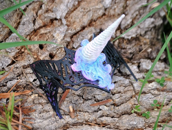 Filigree Fantasy 3D Printed Unicorn Headpiece Custom Painted