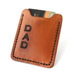 Money clip wallet. Mens leather wallet Men's Wallet Personalize with initials for Father's Day Gift, birthday, groomsmen or graduation gift.