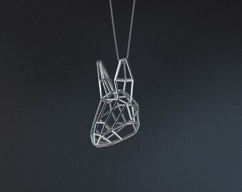 SILVER RABBIT SMALL / silver pendant and silver chain