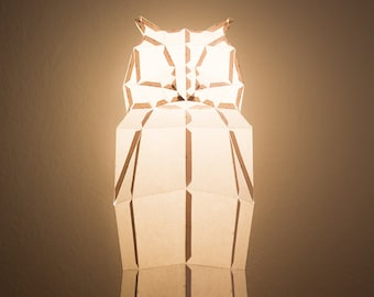 OWL / do it yourself paper lamp shade
