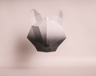 FOX LARGE black gradient / do it yourself paper lamp shade