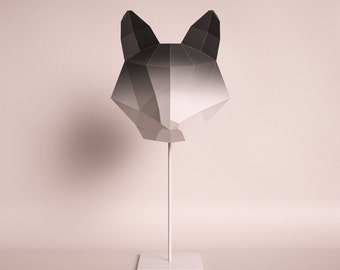 FOX MEDIUM black gradient / do it yourself paper lamp shade