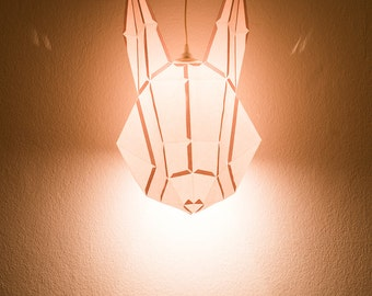 RABBIT LARGE / do it yourself paper lamp shade