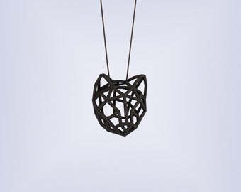 RUBBER CAT MEDIUM / 3D printed rubber-like pendant