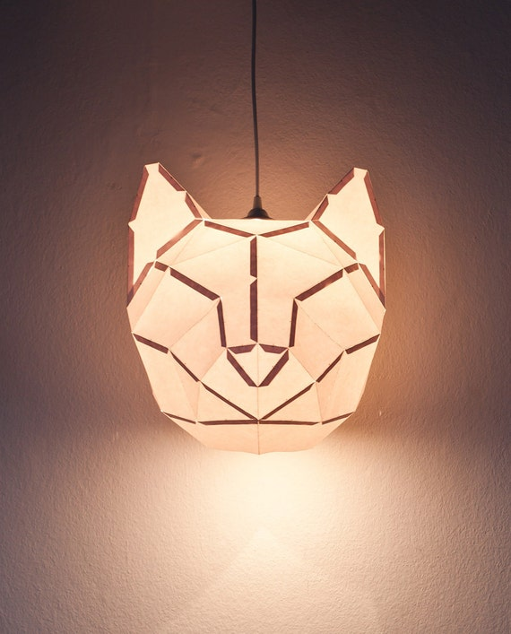 Cat large do it yourself paper lamp shade etsy image 0 aloadofball Image collections