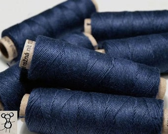 Linen Thread Navy Blue 5 spools hand & machine quilting sewing craft lace jewelry