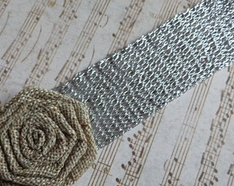 Decorative Mesh Lace 38 mm Silver 3 meters Jewelry Crafts