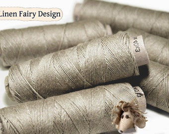 5/10/20 Spools of Linen Thread Natural Beige Spools hand & machine quilting sewing craft lace jewelry Wholesale