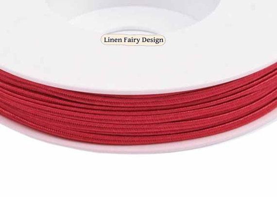 Vintage recorte Cordón-Craft Adornos 5 Mtrs Rojo Cable