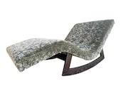 Restored Mid Century Modern Chaise Lounge Rocking Chair
