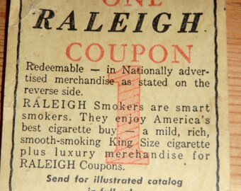 Raleigh Coupon 1959