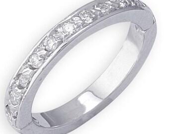 Solid 14K Gold Diamond Toe Ring