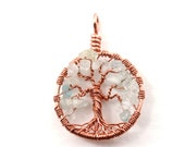 Tree of life pendant, Aqu...