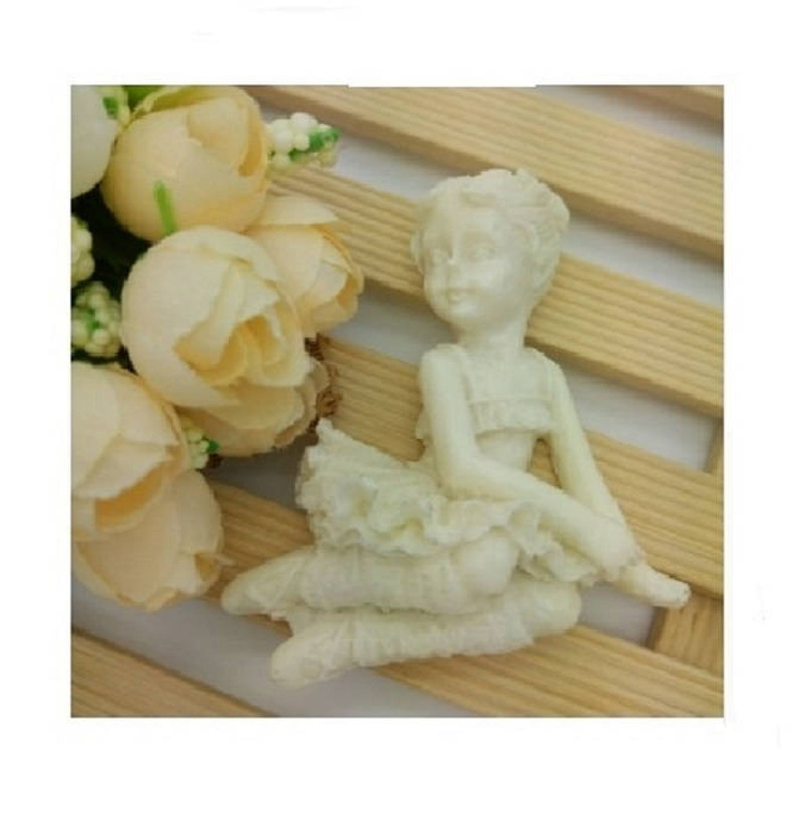ballerina silicone mold girl cake topper ballet tutu skirt chocolate ornaments party decor baby shower favors cupcake toppers ar