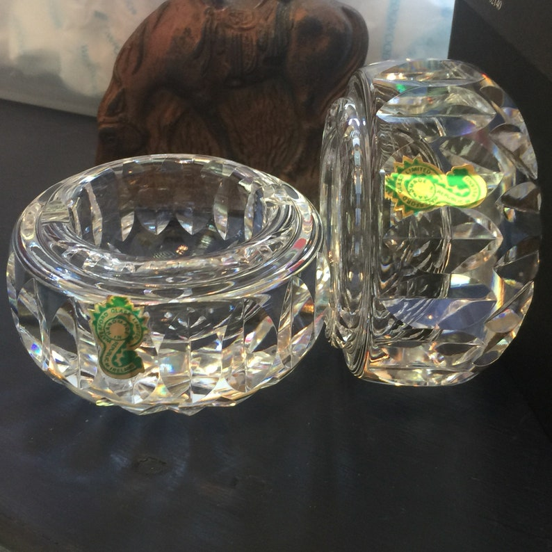 Waterford signed ashtrays