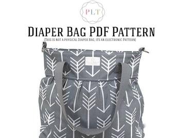Diaper Bag Pattern - Tote Bag Pattern - Sewing Pattern - PDF Diaper Bag Pattern (This is not a physical diaper bag)