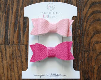 Pink Baby Hair Bow Clips - Hair Clips - Hair Bows - Baby Accessories - Baby Barrettes