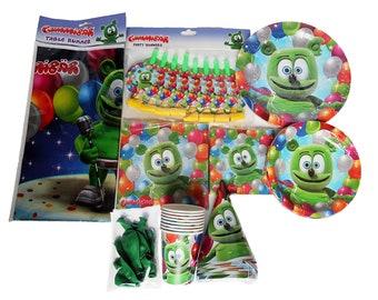Gummibär (The Gummy Bear) Birthday Party Supplies ~ Set for 8