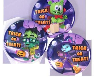 Gummibär (The Gummy Bear) Halloween Buttons ~ Set of 3