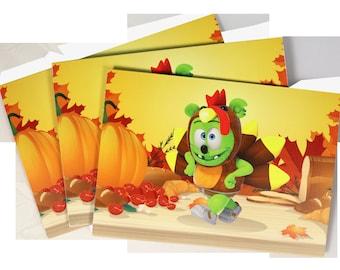 Gummibär (The Gummy Bear) Thanksgiving Greeting Card