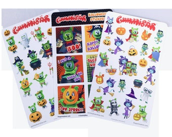 Gummibär (The Gummy Bear) Halloween Sticker Sheet Set