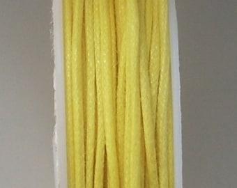 0.5 mm x1metre yellow cotton thread