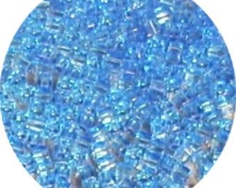 10 grams of loose stones Miyuki 1.5 mm cobalt blue cube