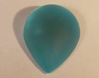 Acrylic Teardrop cabochon turquoise 25mm