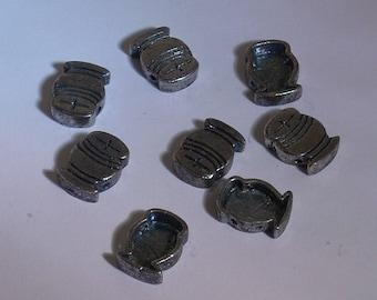 Beads bag silver 13X10mm x 8