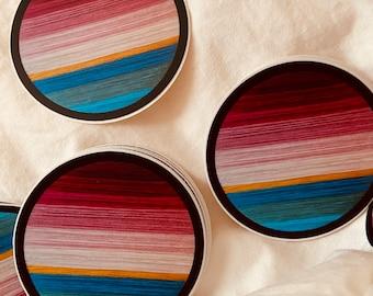 Ron Burgundy Sunset Sticker