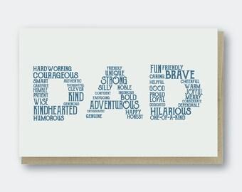 Dad Words Letterpress Greeting Card