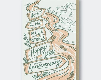 Milestones Anniversary Letterpress Greeting Card