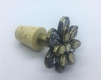 jeweled flower wine stopper