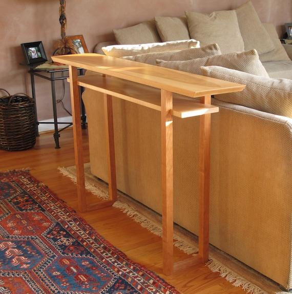 Handmade Narrow Wood Sofa Table Console Table Hall Table Etsy