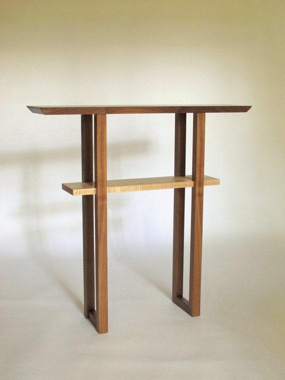 Narrow Entryway Console Table: Solid Wood Custom Skinny