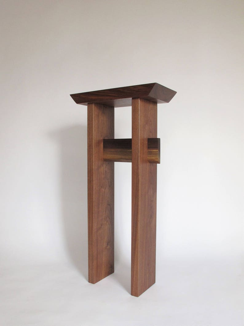 Merveilleux Solid Walnut Entry Table   Tall Wood Table   Narrow Design, Minimalist  Style   For Small Foyers And Entryways