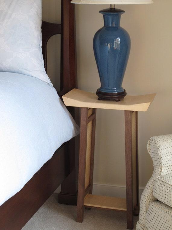 Bett Beistelltisch / Nachttisch Mit Bücherregal Schmal: | Etsy