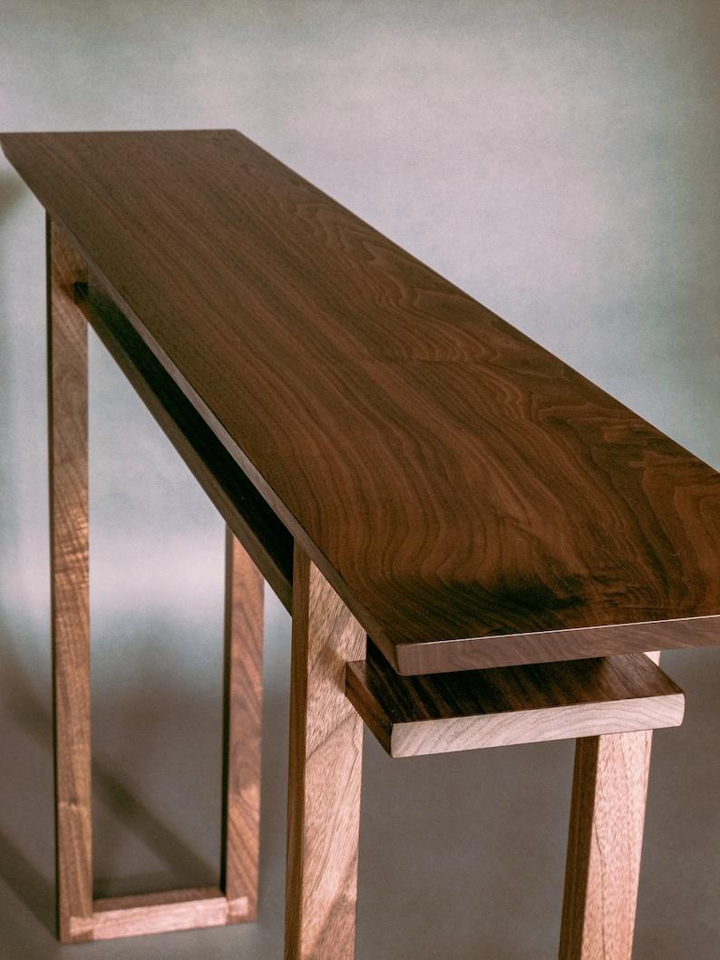 Modern Wood Narrow Hallway Table: Narrow Console Table Side | Etsy