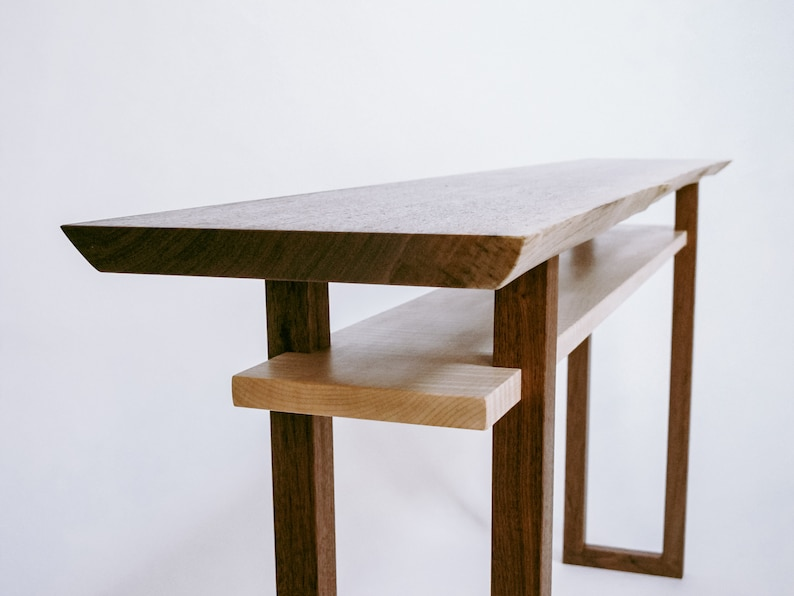 Live Edge Console Table  Narrow Sofa Table, Live Edge Hall Table, Wood Slab  Entry Table  Minimalist Wood Furniture  CLASSIC COLLECTION
